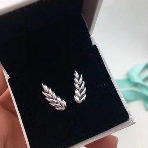 Pandora Leaf Stud Earrings
